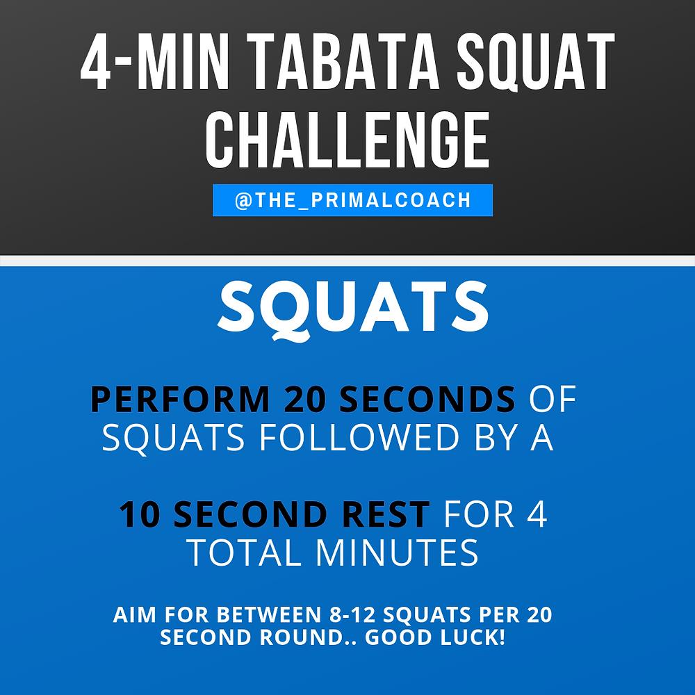 4 minute squat workout