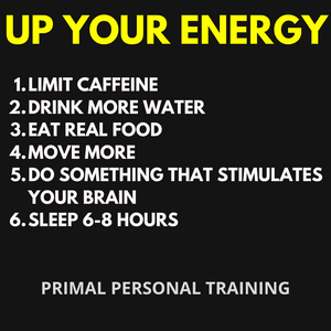 6 things to up your energy levels