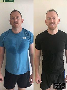 transformation photo of joe who lst 25kg