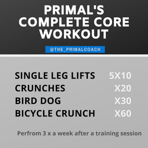 a core workout on a graphic