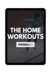 The Primal home workouts banner on an Ipad