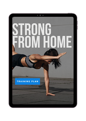 Strong from home title on an ipad