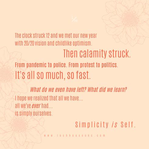 Simplicity is Self