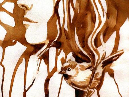 Дайте мне кофе и я нарисую шедевр или необычные приемы в рисовании