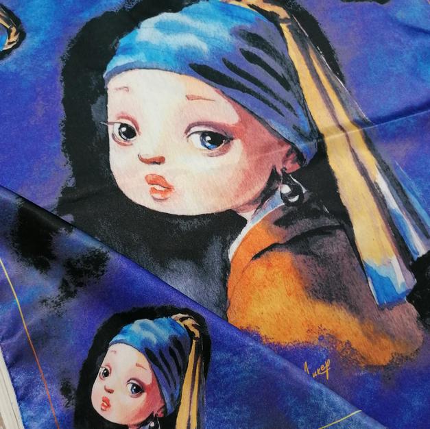 Платок Девушка с жемчужной сережкой