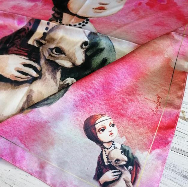платок Дама с горностаем