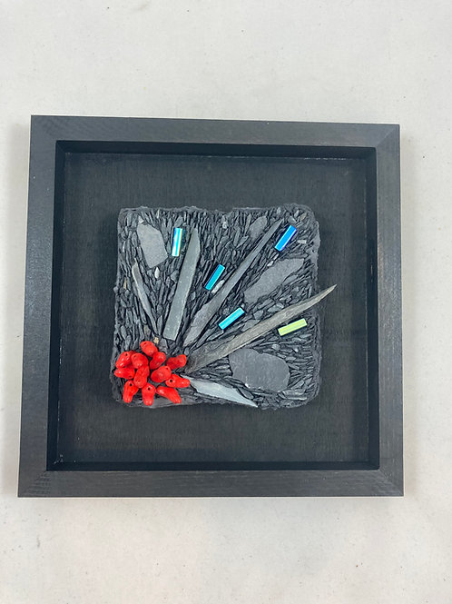 explosion 2 slate and glass mosaic