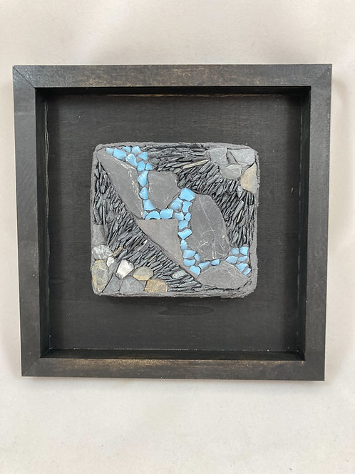 stream 1 slate and glass mosaic