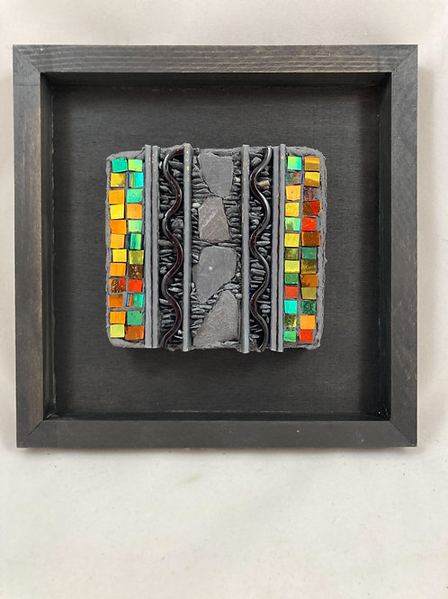 black and bling slate and glass mosaic