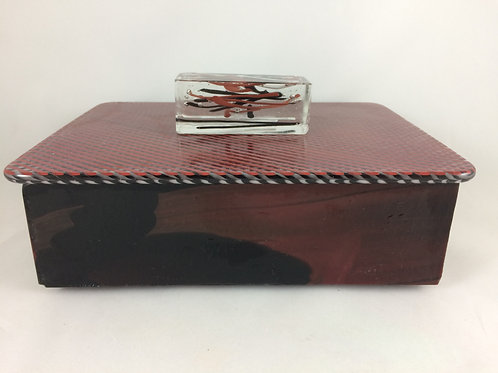 Black and red treasure box