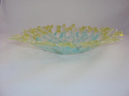 Spring green and aqua coral bowl