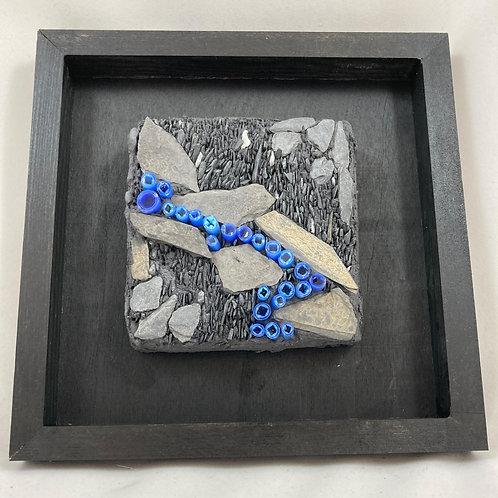streaming slate and glass mosaic
