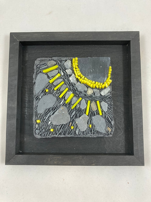 here comes the sun slate and glass mosaic