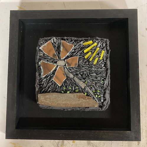 out of the wreckage slate and glass mosaic