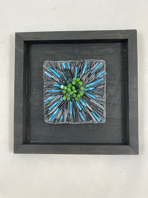 colorburst slate and glass mosaic