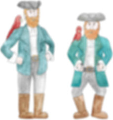 Pirate illutrations for children's poem
