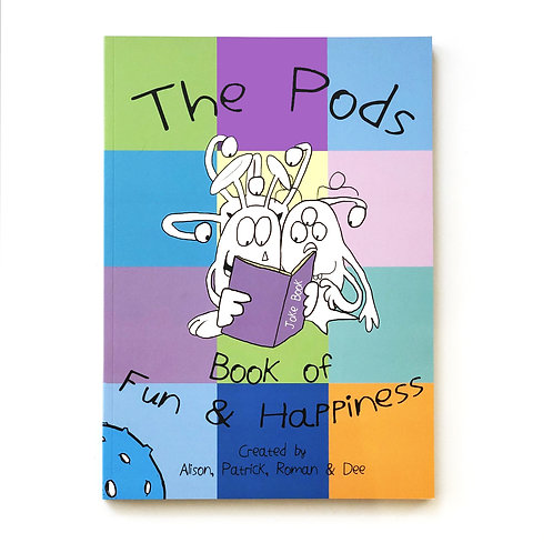The Pods Book of Fun & Happiness and bookmark in presentation box