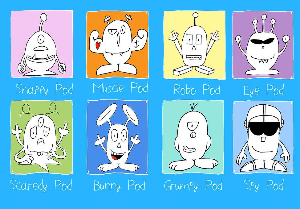 Storyboard The Pods copy web white colou