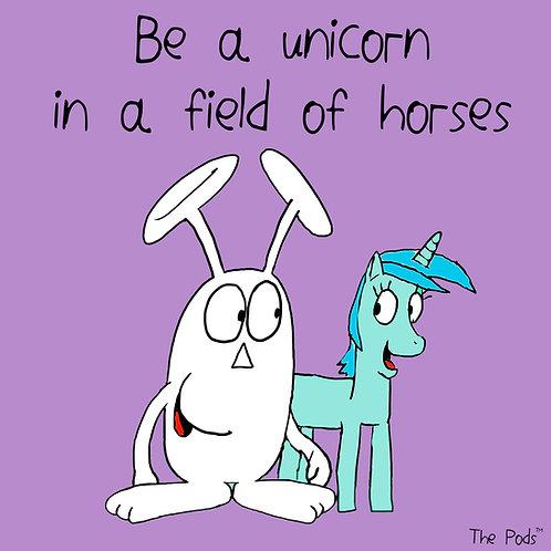 Be a unicorn - Pod Postcard & envelope