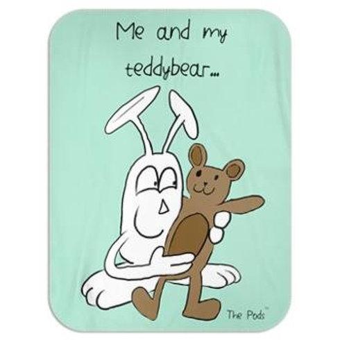 Blanket - Me and my teddybear Aqua