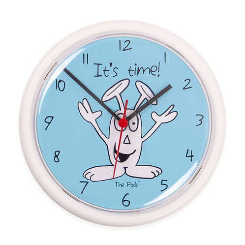 Bunny Pod 'It's time' Clock