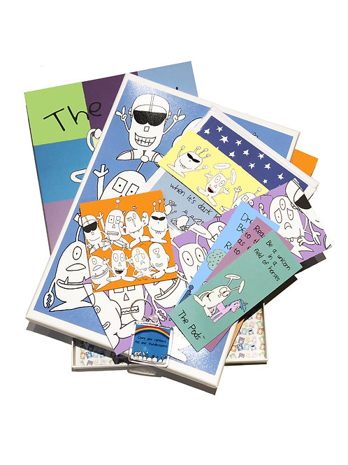 The Pods Book of Fun & Happiness Bundle in presentation box