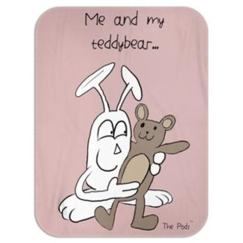 Blanket - Me and My Teddybear Dusty Pink