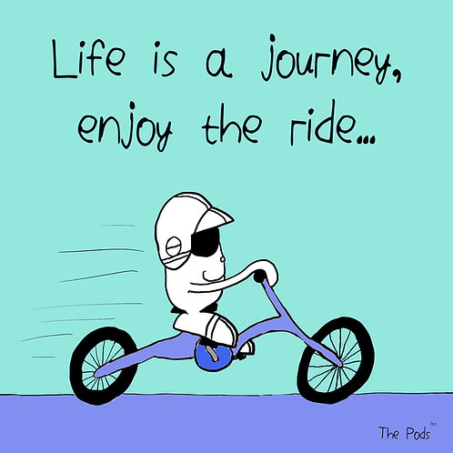 Life is a journey - Pod Postcard & envelope