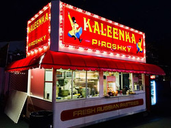 Kaleenka Phiroshky Booth at night