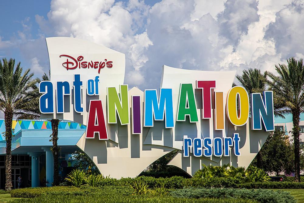 Disney's Art of Animation Sign