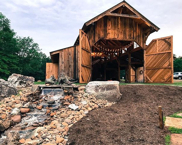 Barn and Creek