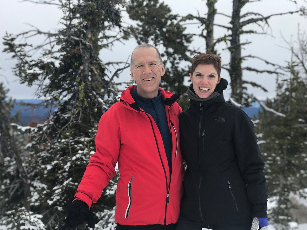 Joe Cooke and Katie Christianson at Anthony Lakes ski resort