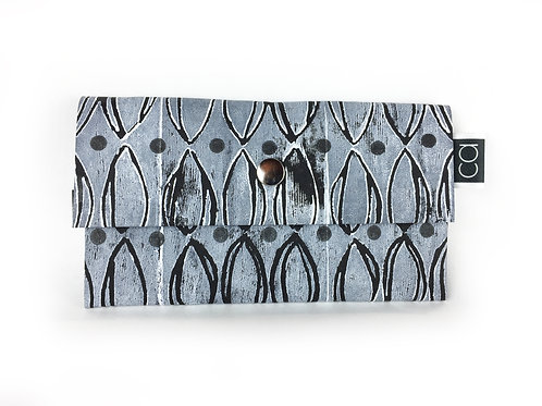 Vegan Purse white on black