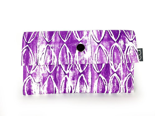 Vegan Purse Purple on White
