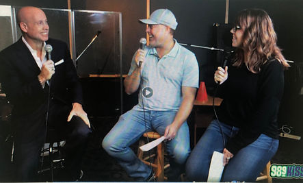 Kitt Wakeley with Joey & Heather in the Morning 98.9 FM