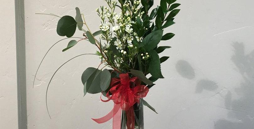 1 Rose in Vase