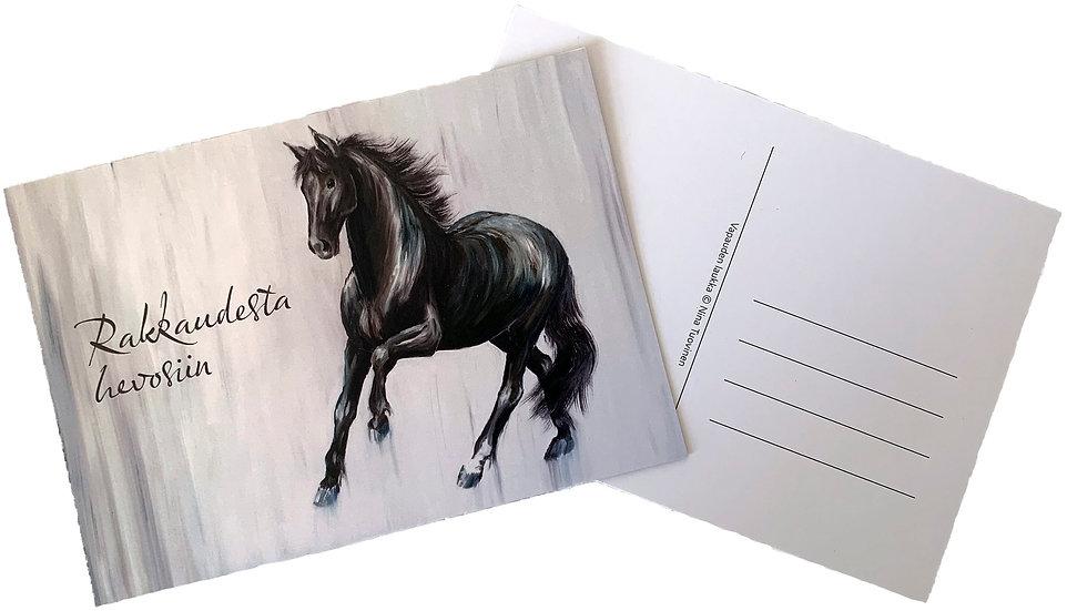 Rakkaudesta hevosiin -postcard