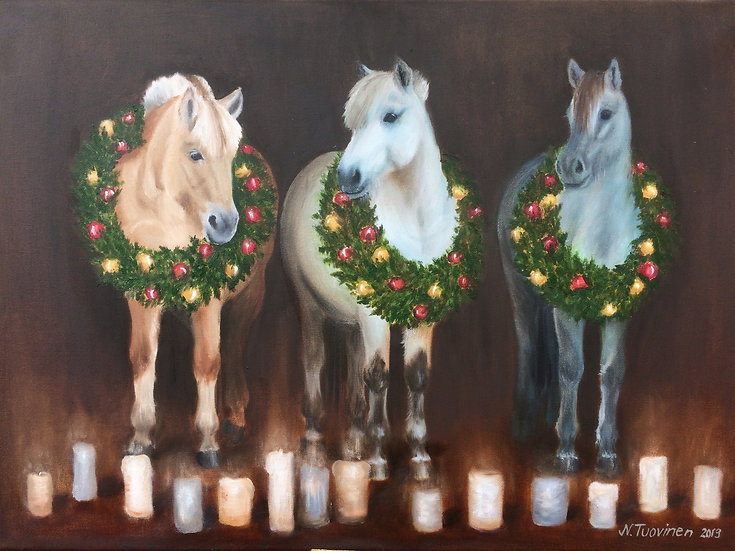 Christmas horses (70x50cm)