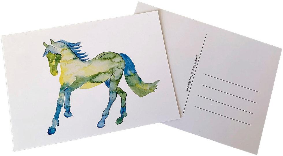 Swedish horse -postcard