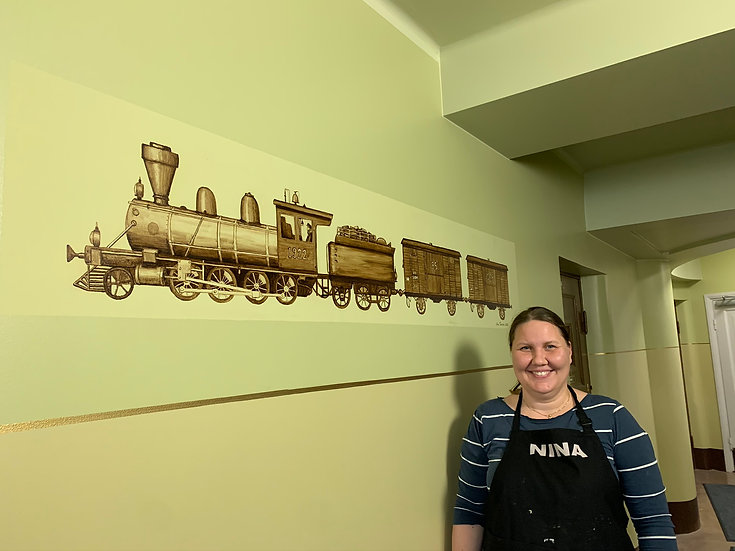 Trains from 1920s - Wall painting