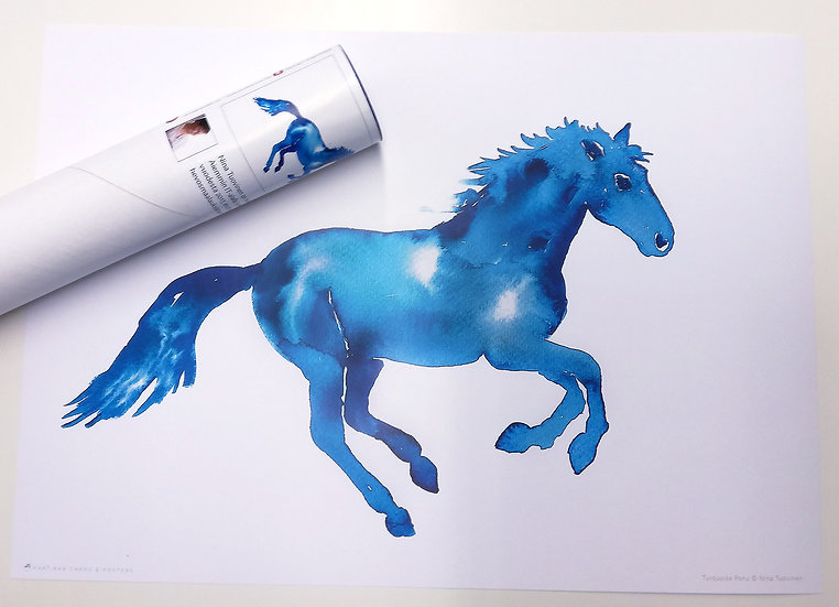 Turquoise Pony - A3 Poster