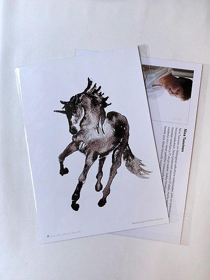 Black Unicorn - A4 Print