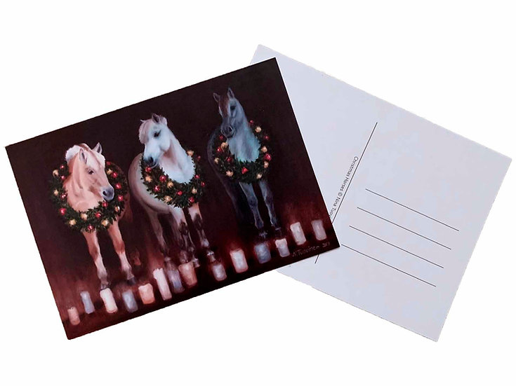 Christmas Horses - Postcard