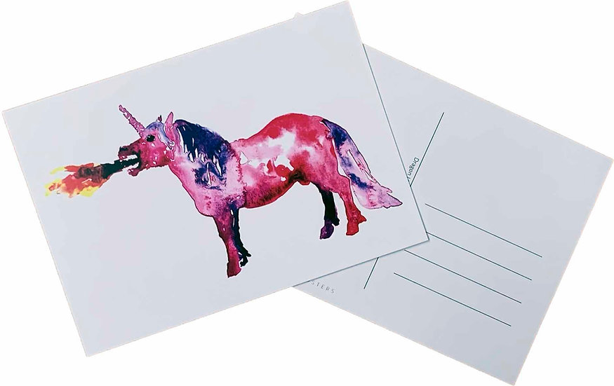 Dragon Unicorn -postcard
