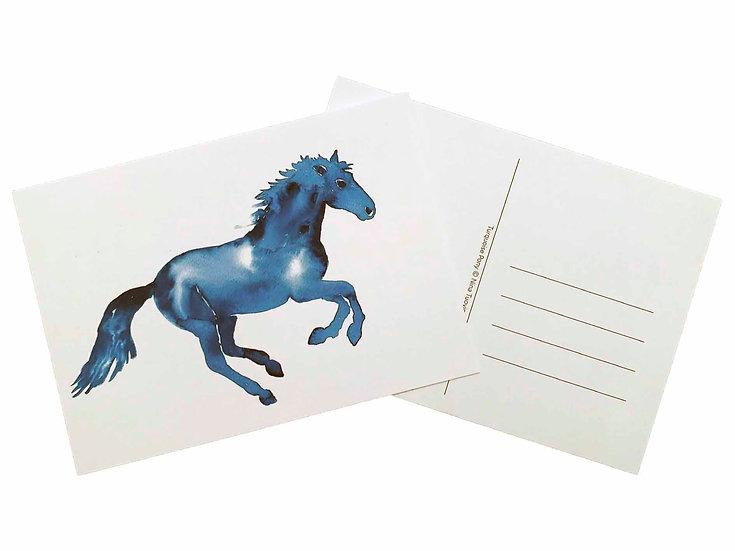 Turquoise Pony - Postcard