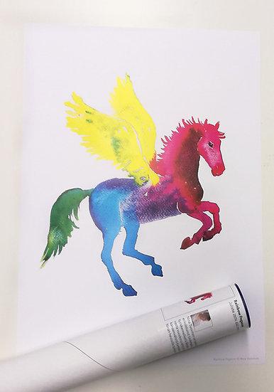 Rainbow Pegasos - A3 Poster