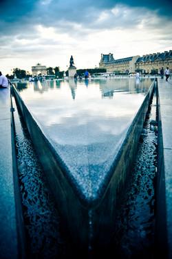 Paris _ Louvre fountain perspective