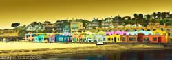 Colorful beach bungalows in Santa Cruz _ Venetian Hotel Capitola
