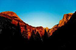 Light from Sunset Cast in Valley