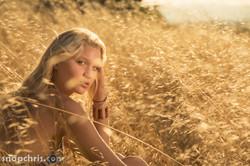Beautiful California Girl in the tall grass